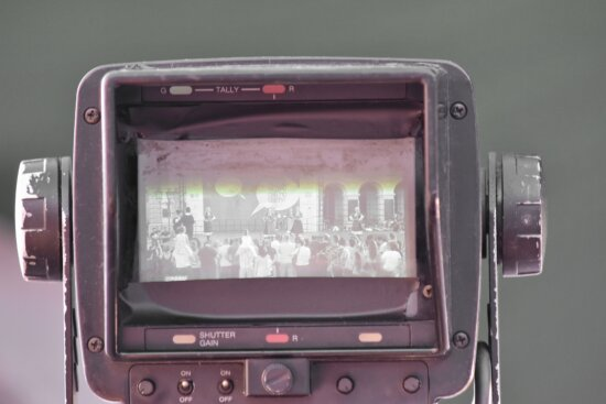 camera, old, television news, video recording, screen, lens, retro, equipment, technology, electronics