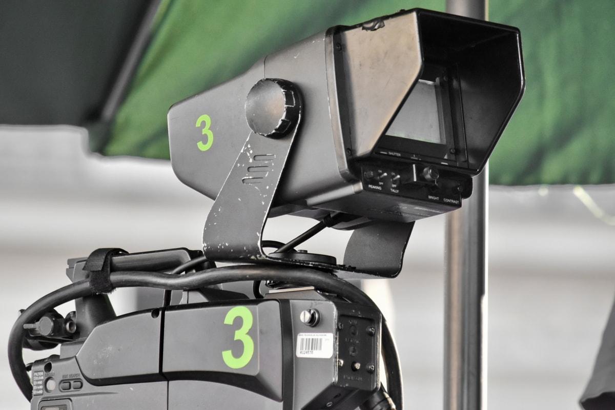 camera, equipment, professional, television news, transportation, retro, outdoors, lens, machinery, classic