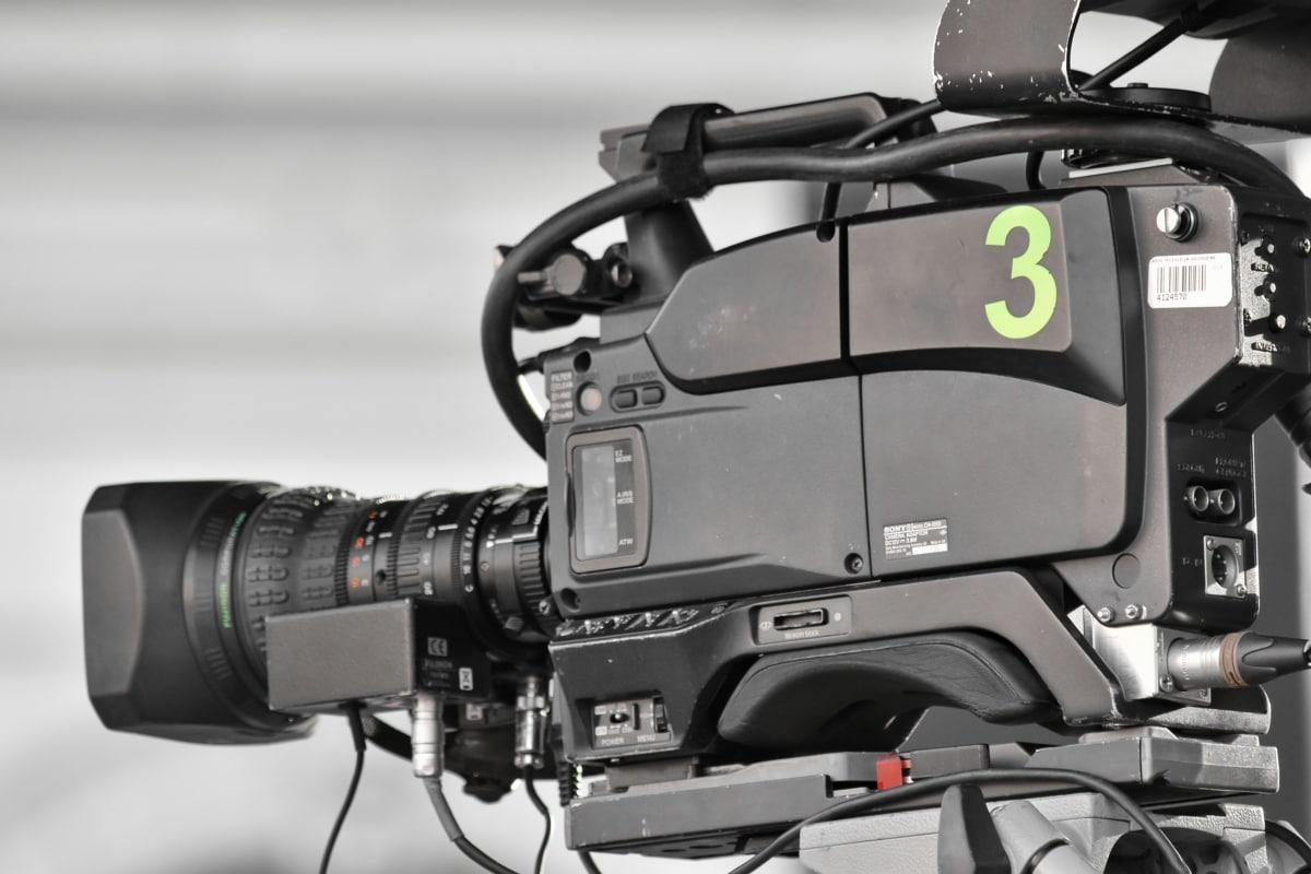 fotoaparát, film, statív, nahrávanie videa, elektronika, objektív, Vybavenie, strojové zariadenia, retro, Technológia