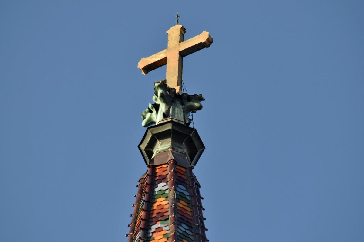 katedrála, katéter, kresťanstvo, farebné, kríž, zlato, pamiatka, štruktúra, Socha, Architektúra
