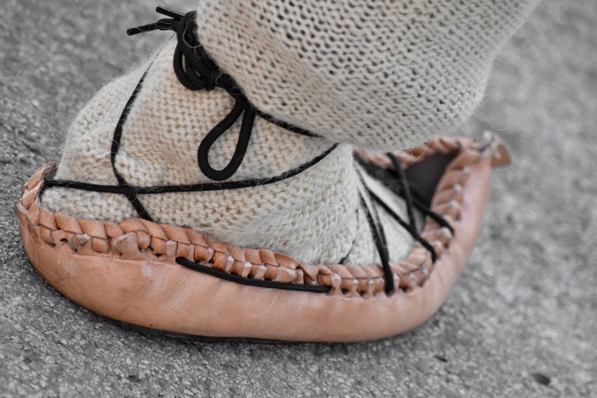 leather, old fashioned, shoe, shoelace, wool, foot, fashion, footwear, old, classic