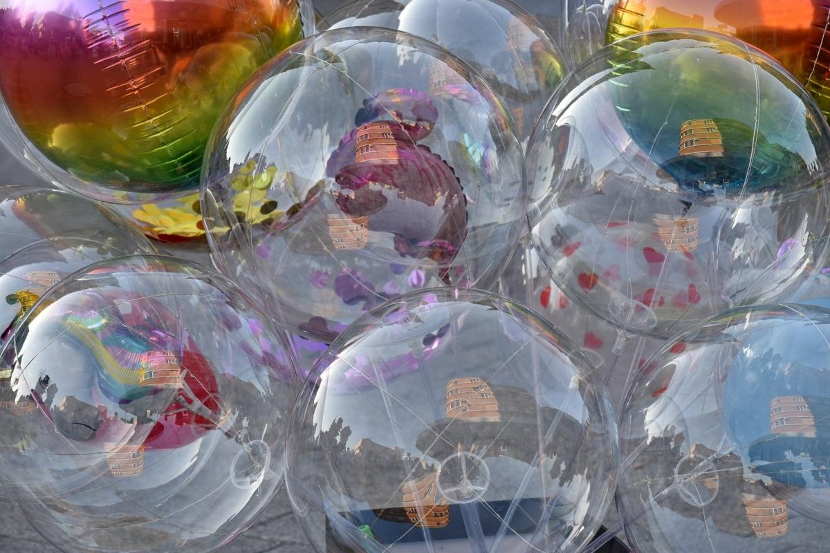 บอลลูน, สะท้อน, โปร่งใส, การออกแบบ, ภาพ, ศิลปะ, ภาพประกอบ, จินตนาการ, สดใส, ทรงกลม