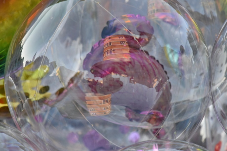 ball, colourful, plastic, reflection, rubber, plastic bag, color, decoration, design, abstract