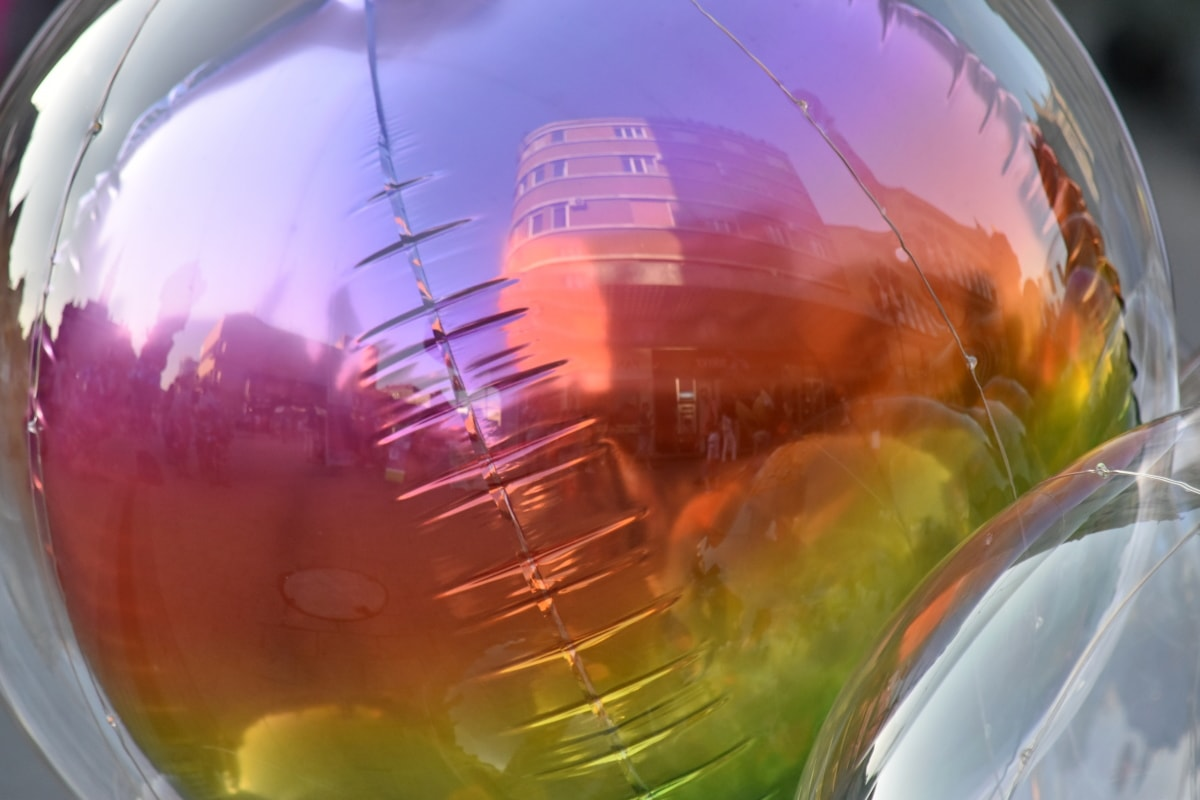 quả bóng hình, khí cầu, phản ánh, ánh sáng, tóm tắt, thiết kế, sáng sủa, công nghệ, mờ, nghệ thuật