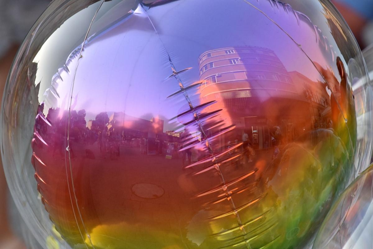 balon, plastika, abstraktno, dizajn, svijetle, umjetnost, odraz, boja, svjetlo, zabava