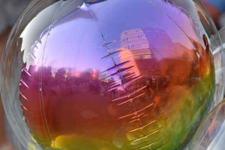 balloon, plastic, abstract, design, bright, art, reflection, color, light, fun