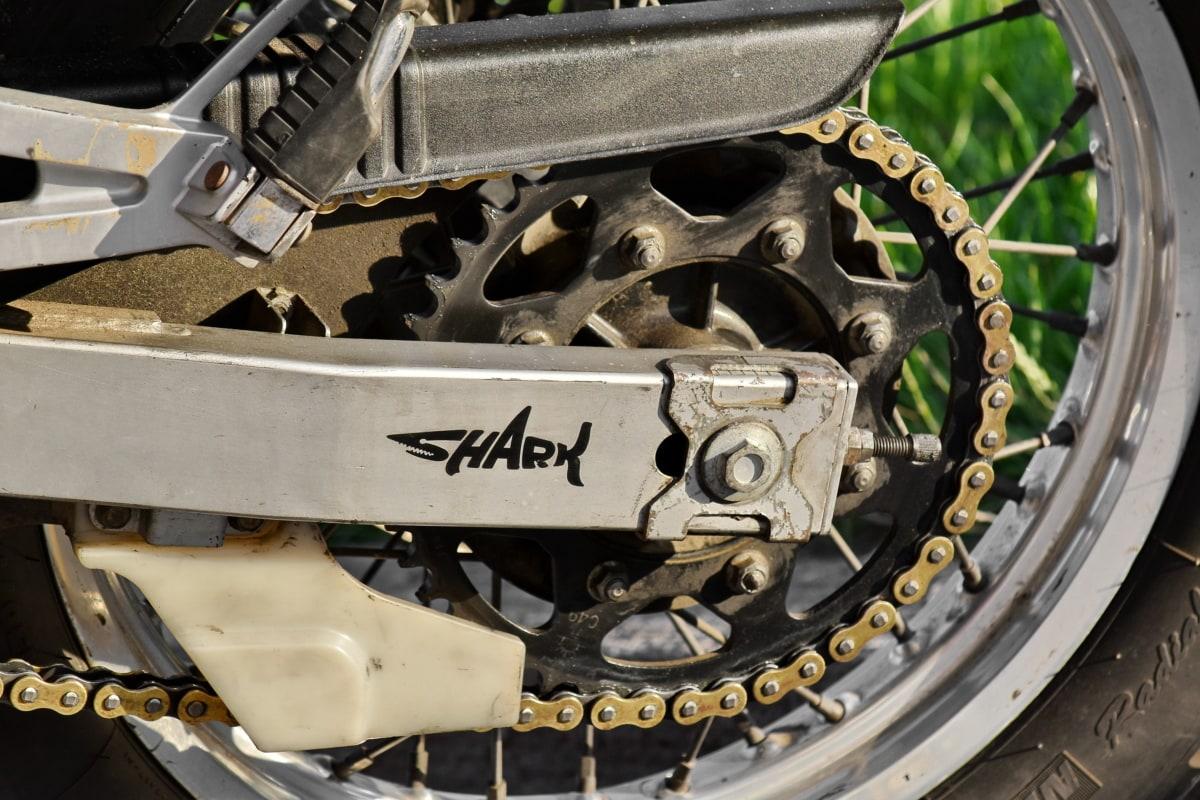 Zinciri, Motoru, Motosiklet, Lastik, makine, Çelik, dişli, tekerlek, mekanizması, eski