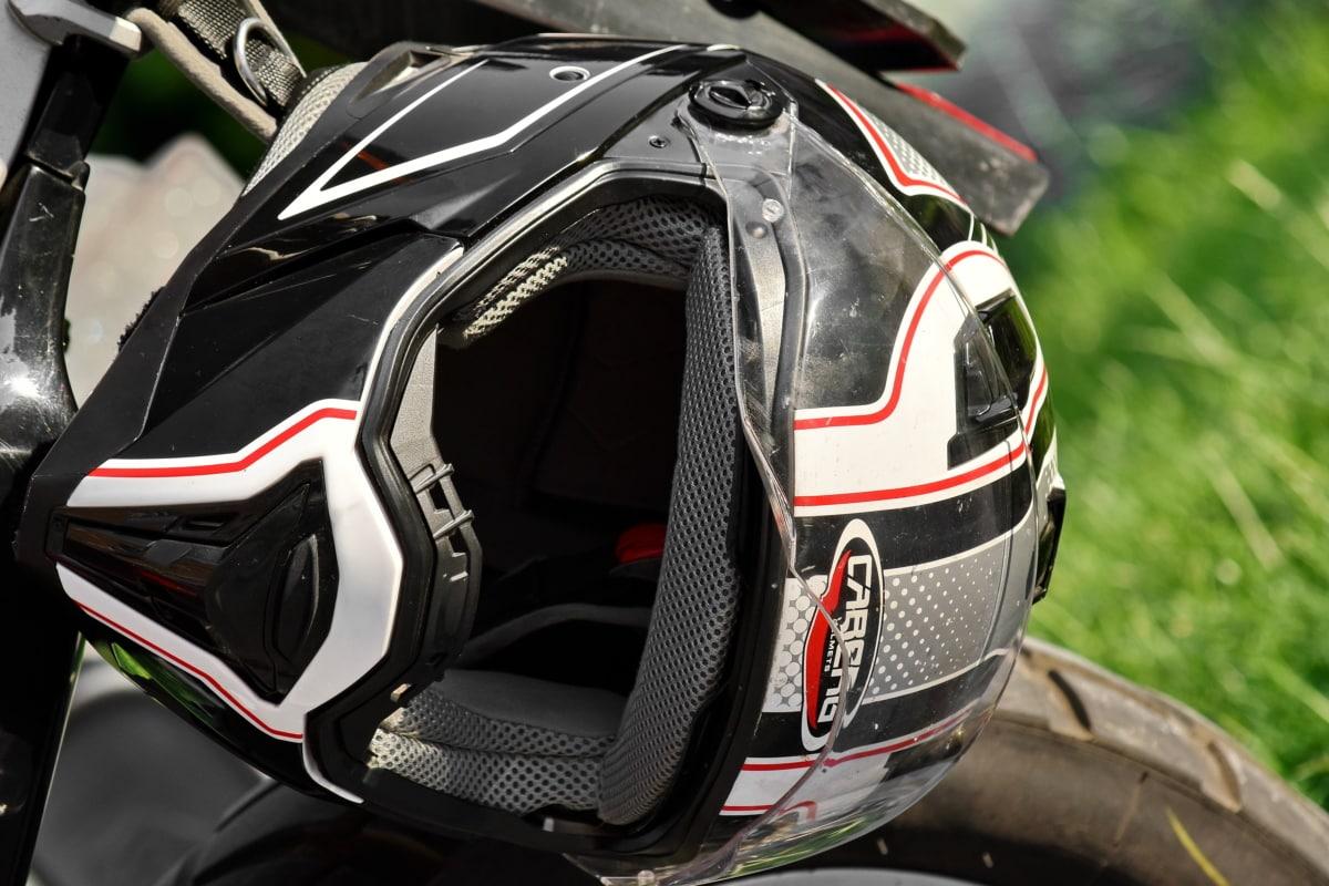 detaljer, motocross, beskyttelse, sikkerhed, hjelm, transport, køretøj, sport, kromi, hjulet