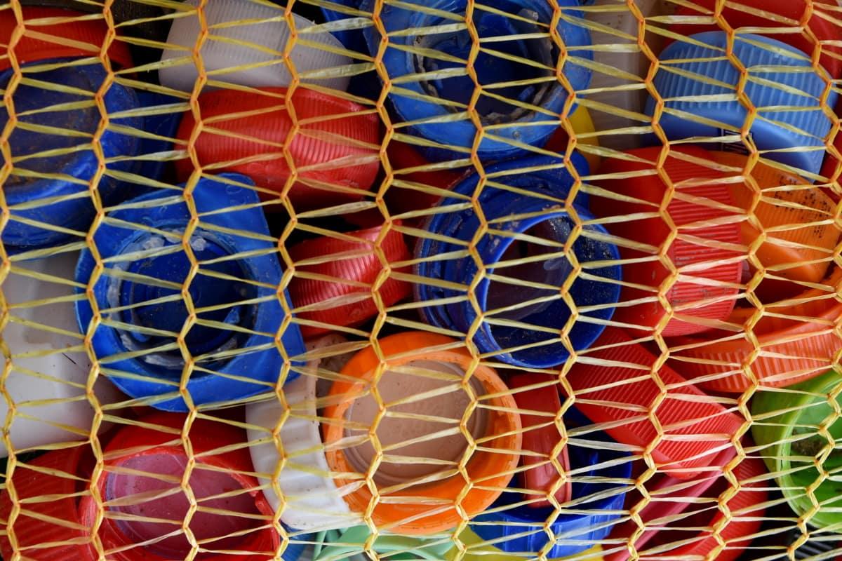สีสันสดใส, ขยะ, พลาสติก, รีไซเคิล, โรงงานรีไซเคิล, รูปแบบการ, เนื้อ, สี, การออกแบบ, รูปร่าง