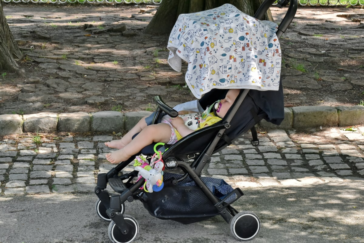 beba, dijete, park, malo dijete, priroda, ulica, zabava, ljeto, osoba, izvan