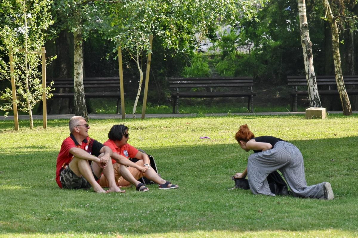 rumput, di luar rumah, olahraga, rekreasi, orang-orang, Taman, rekreasi, rumput, relaksasi, gaya hidup