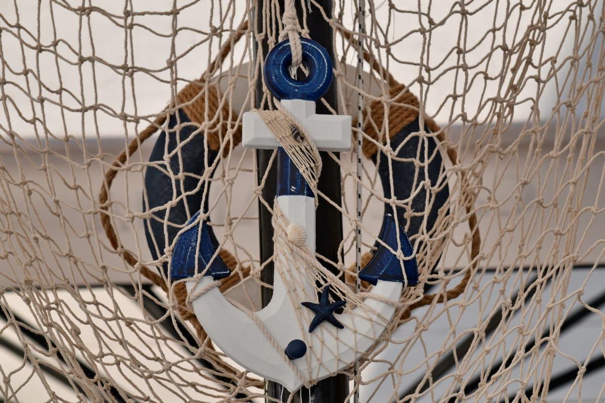 Anchor, nó, em miniatura, corda, nave, Web, equipamentos, dispositivo, lazer, recreação