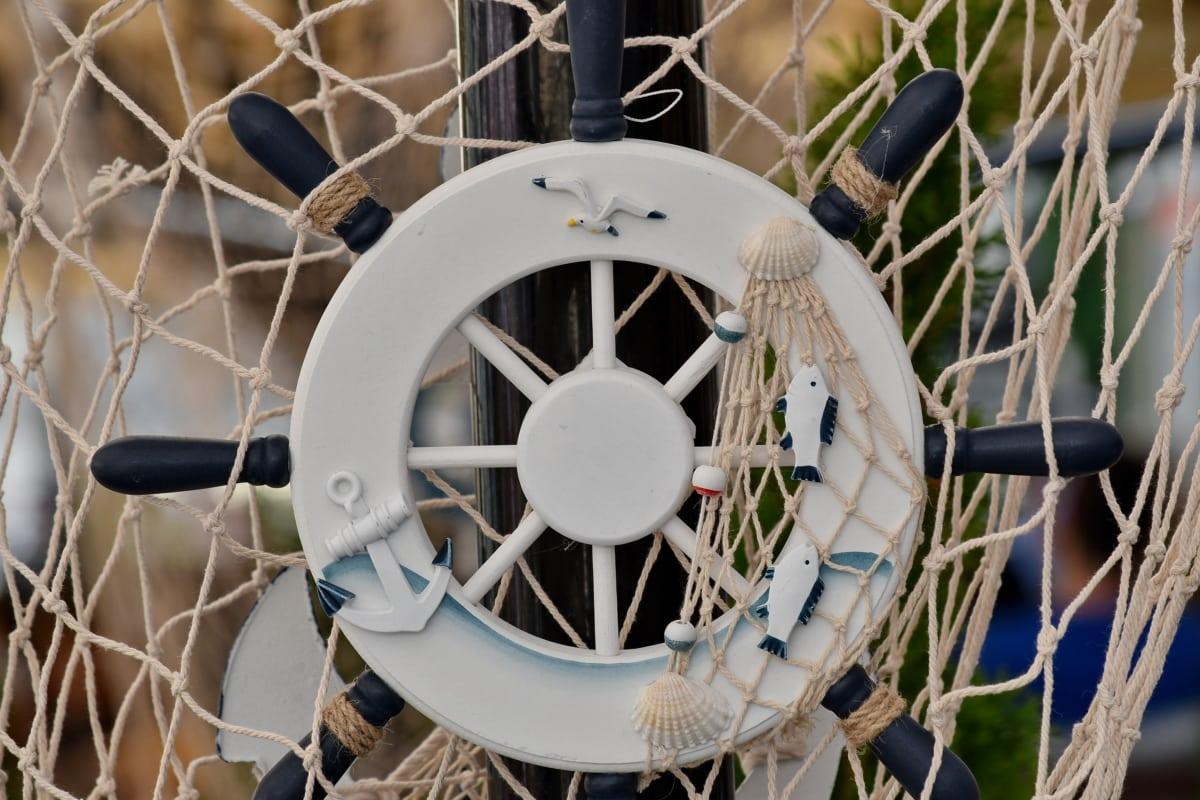 handgefertigte, Schiff, Seil, Ausrüstung, Gerät, Netz, im freien, Freizeit, Sommer, alt