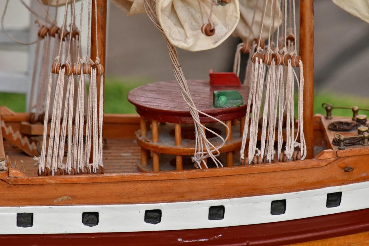 model, schip, speelgoed, traditionele, touw, hout, handgemaakte, Retro, oude, waterscooters
