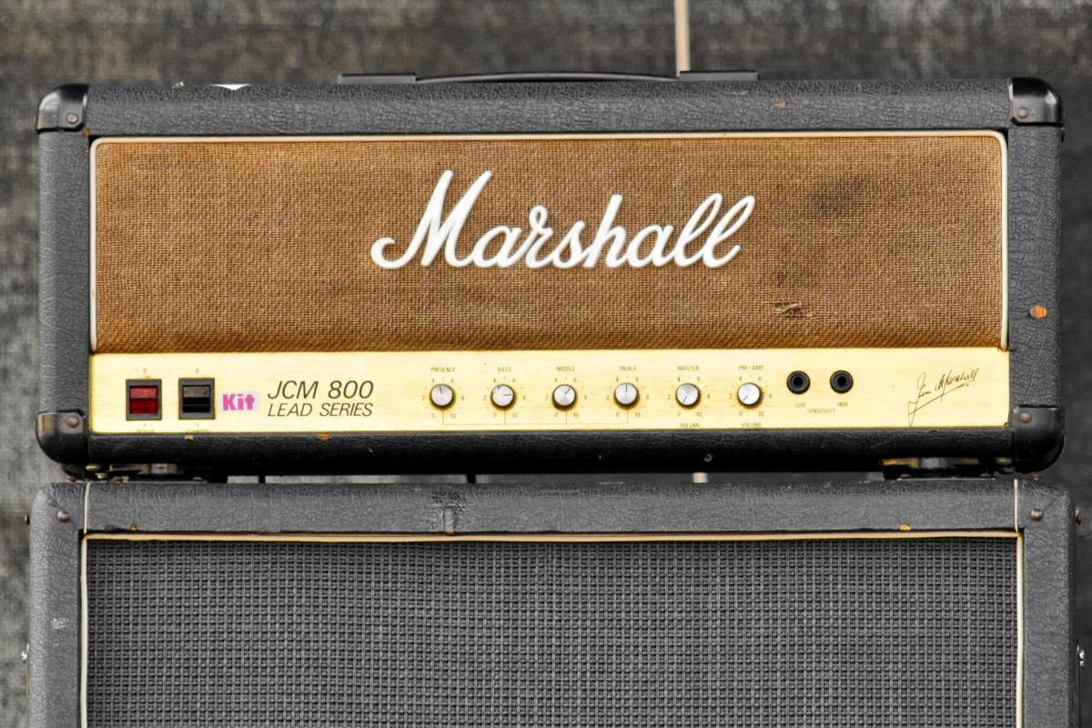 wzmacniacz, słynny, głośniki, intensywność, radia, panelu, Sprzęt, retro, stary, metaliczne