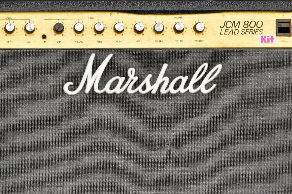 ljud, berömda, musik, högtalare, konsistens, utrustning, förstärkare, mönster, material, retro