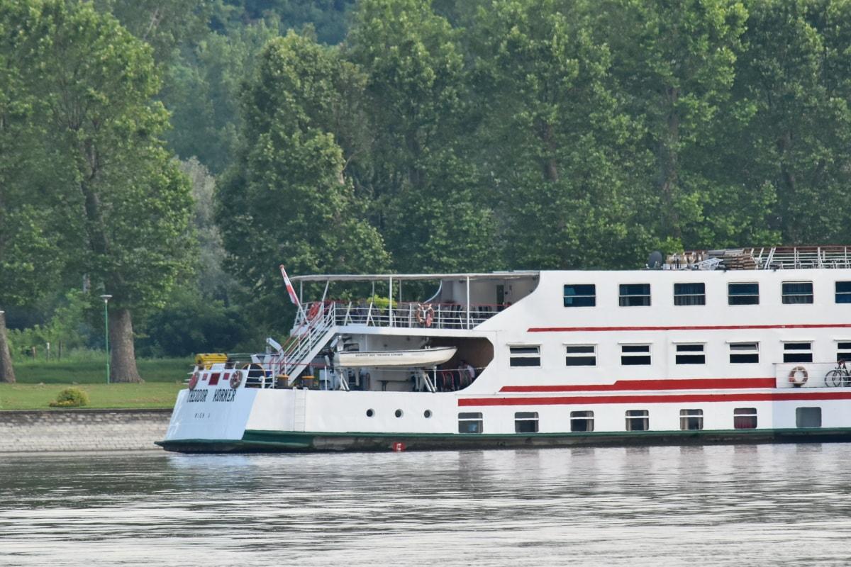 Chorvátsko, výletná loď, Dunaj, cestovný ruch, turistickou atrakciou, vozidlo, vodné skútre, loďou, remeslo, voda
