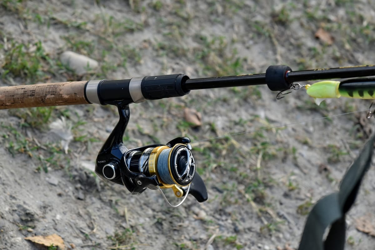fishing gear, fishing rod, nylon, device, mechanism, equipment, sport, recreation, nature, outdoors