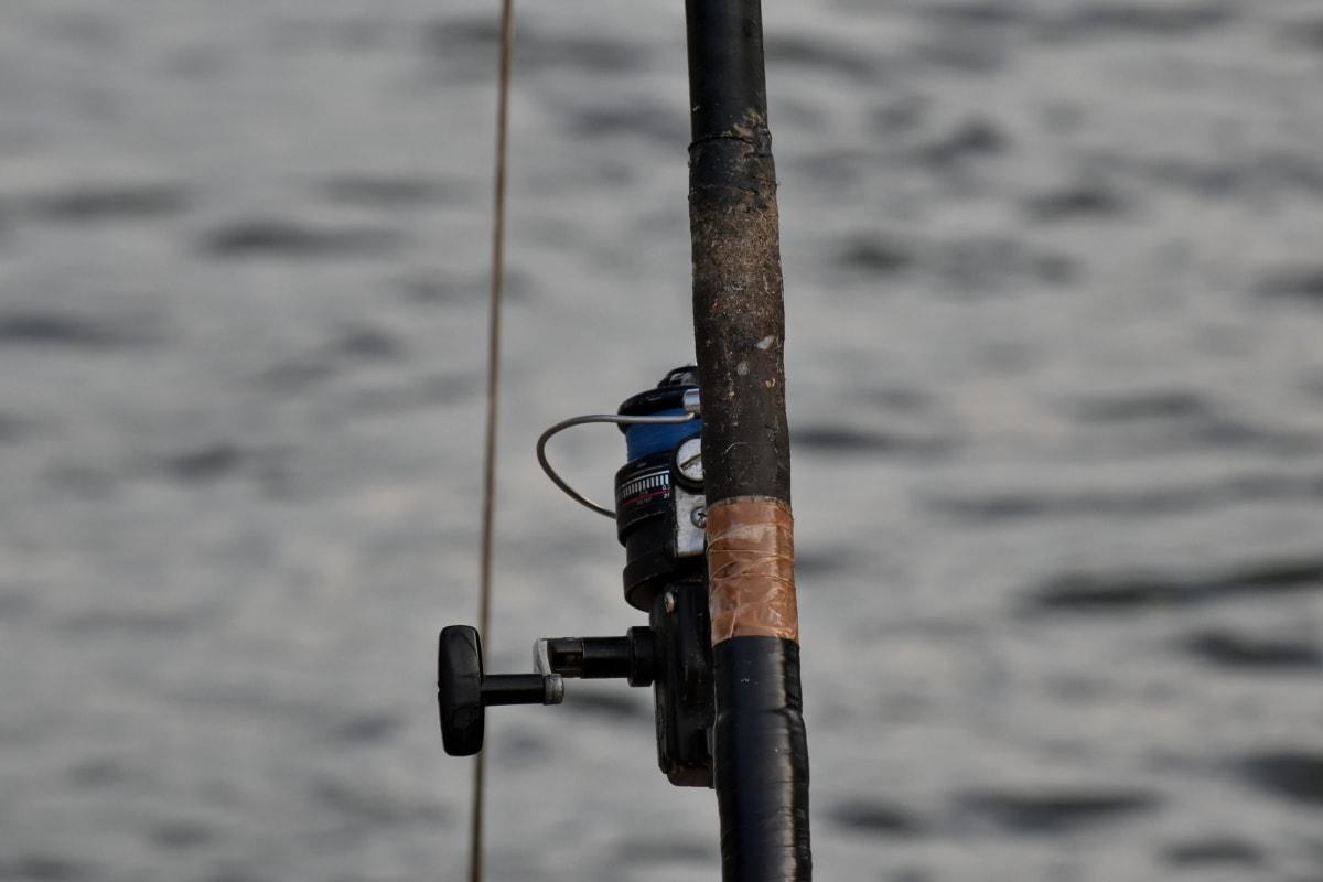 ribič, štap za ribolov, sportski, mehanizam, slobodno vrijeme, voda, rekreacija, ribar, priroda, jezero