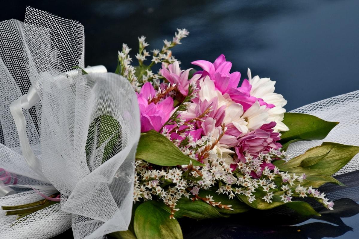 kwiat, bukiet, Natura, krzew, ślub, miłość, liść, romans, flora, Róża