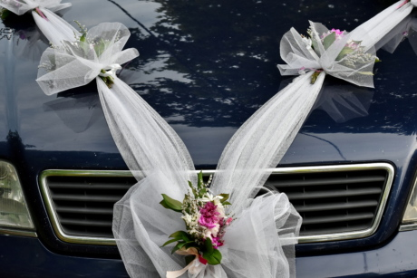car, ceremony, decoration, wedding, flower, arrangement, flowers, bouquet, nature, love