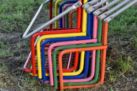 colourful, colours, stainless steel, chair, seat, playground, color, equipment, plastic, swing