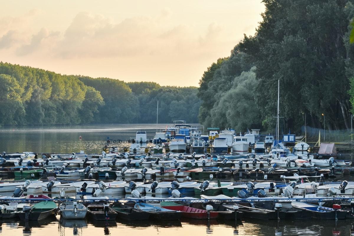 súkromný prístav, prístav, loďou, voda, vodné skútre, mólo, vozidlo, jazero, jachta, letné
