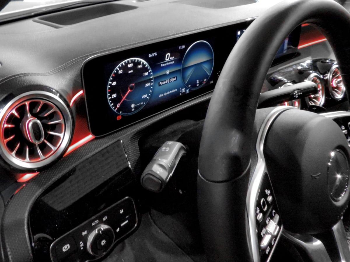 digital, illuminated, steering wheel, dashboard, speedometer, drive, vehicle, automotive, fast, speed