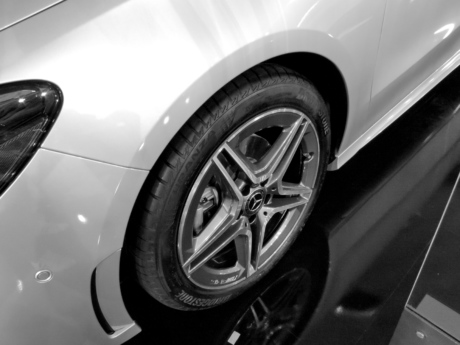 alloy, black and white, car, metallic, tire, machine, vehicle, automobile, wheel, automotive