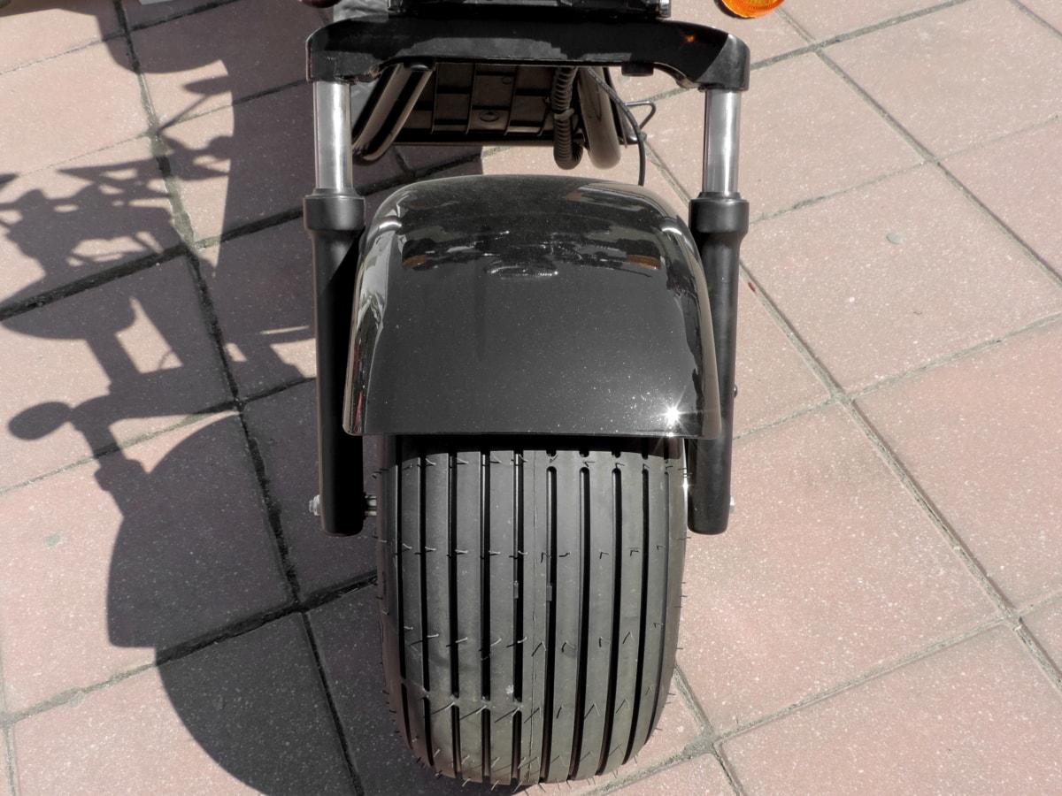 오토바이, 그림자, 타이어, 너비, 휠, 자전거, 거리, 빈티지, 포장, 차량
