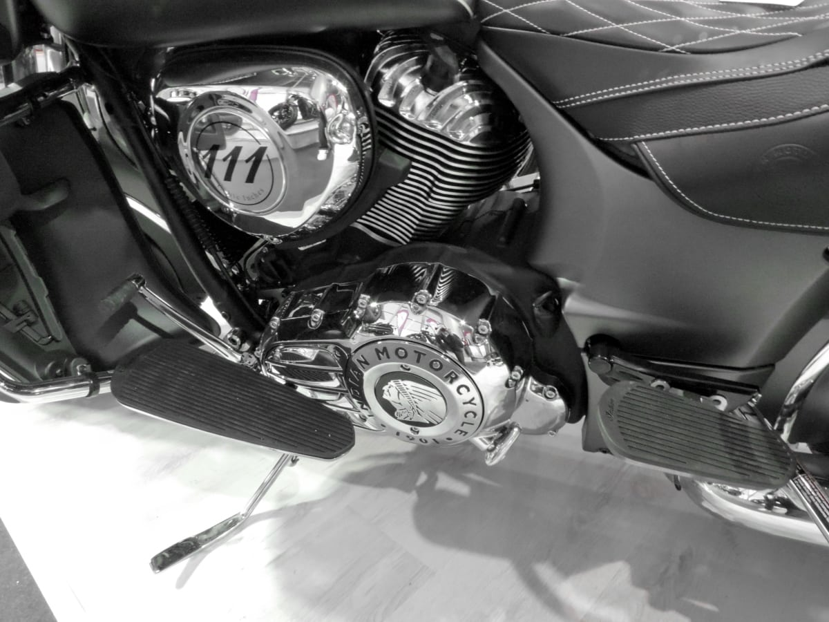 crom, motor, monocrom, motocicleta, scaun, vehicul, lux, motocicleta, transport, motor
