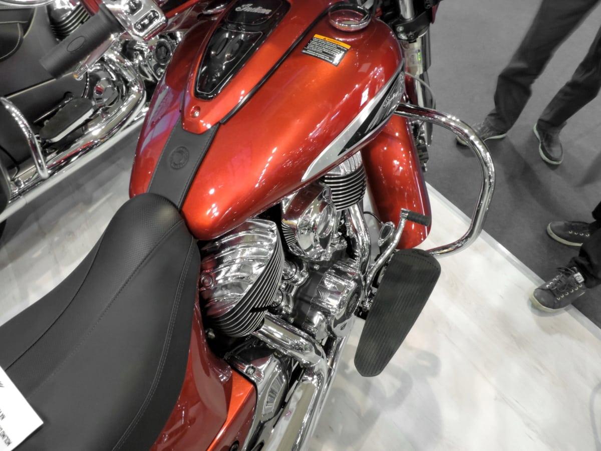 Metalik, Motosiklet, Kırmızı, Krom, ulaşım, araç, sürücü, yarış, Hızlı, Klasik