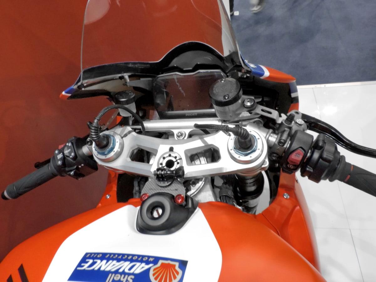 slitina, měřidlo, motocyklu, kormidelní kolo, čelní sklo, sídlo, vozidlo, kolo, chrom, motorka