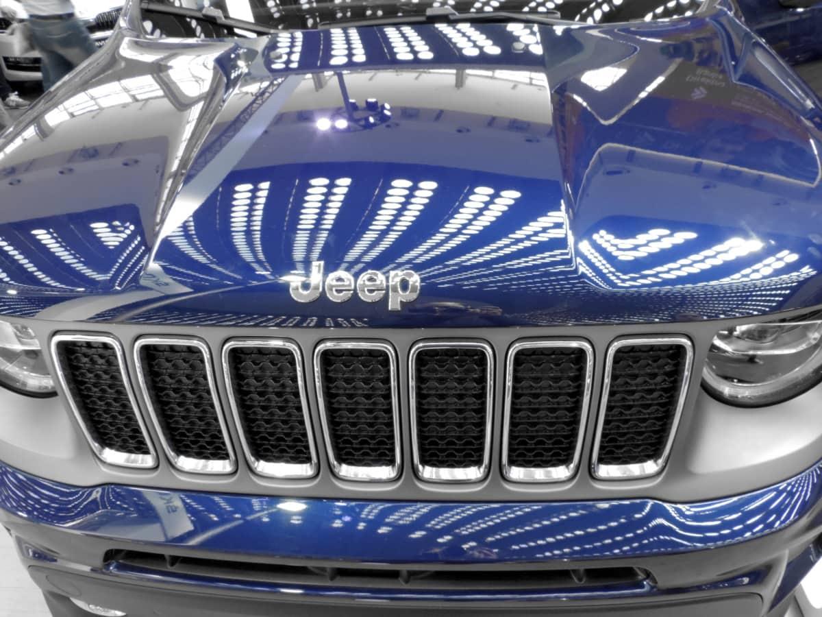 phare, hotte, Jeep, métalliques, réflexion, transport, véhicule, voiture, Vitesse, automobile