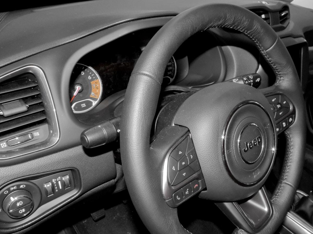airbags, autostol, sporvidde, gearskifte, rat, bil, autojen, instrumentbræt, kromi, kørsel