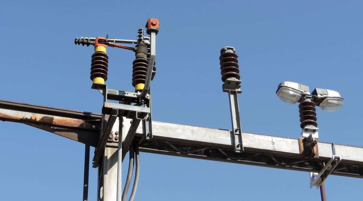 electricity, industry, voltage, wires, equipment, semaphore, cable, technology, wire, high
