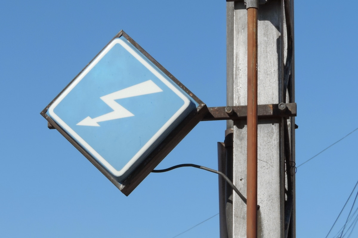 danger, electricity, sign, voltage, warning, blue sky, street, safety, high, outdoors