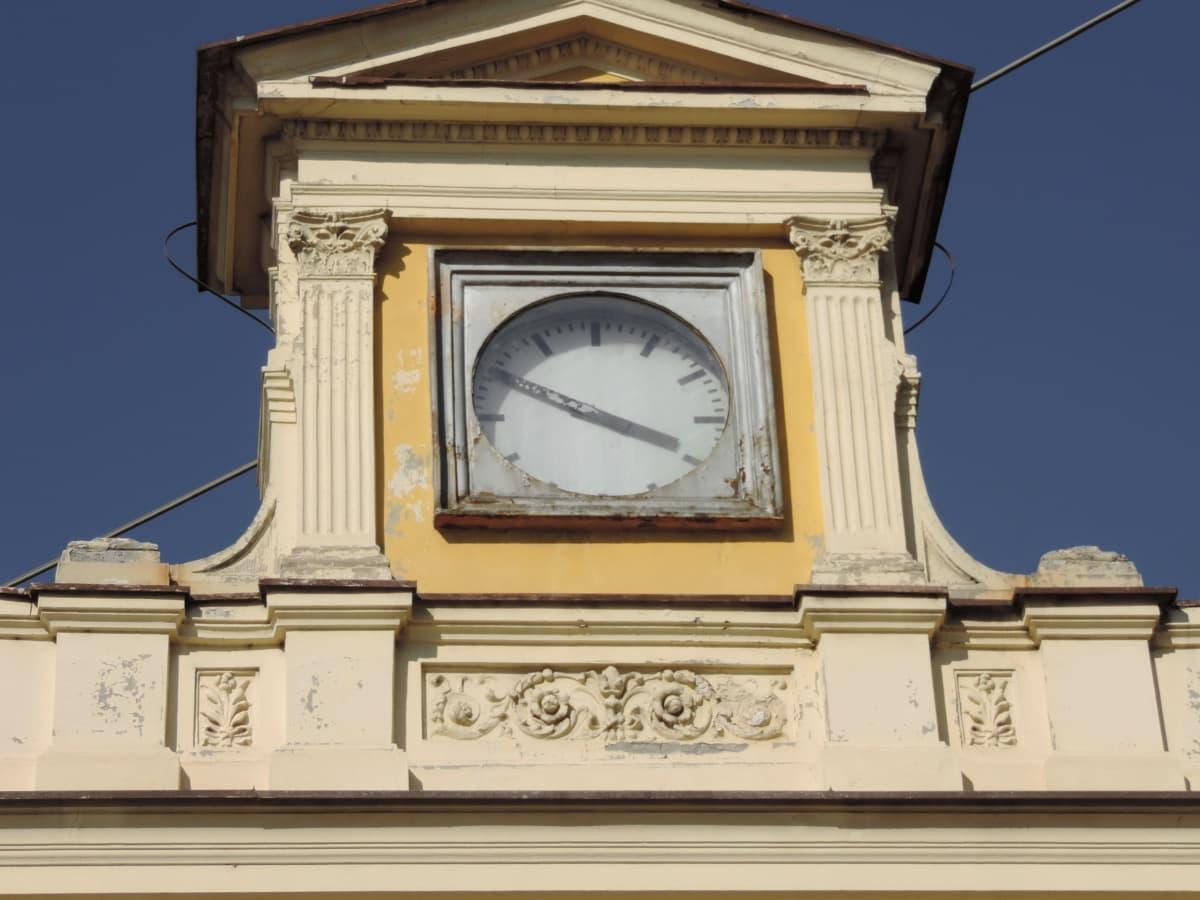analógové hodiny, budova, hlavné mesto, Podrobnosti, fasáda, Murivo, Architektúra, hodiny, veža, Ručné