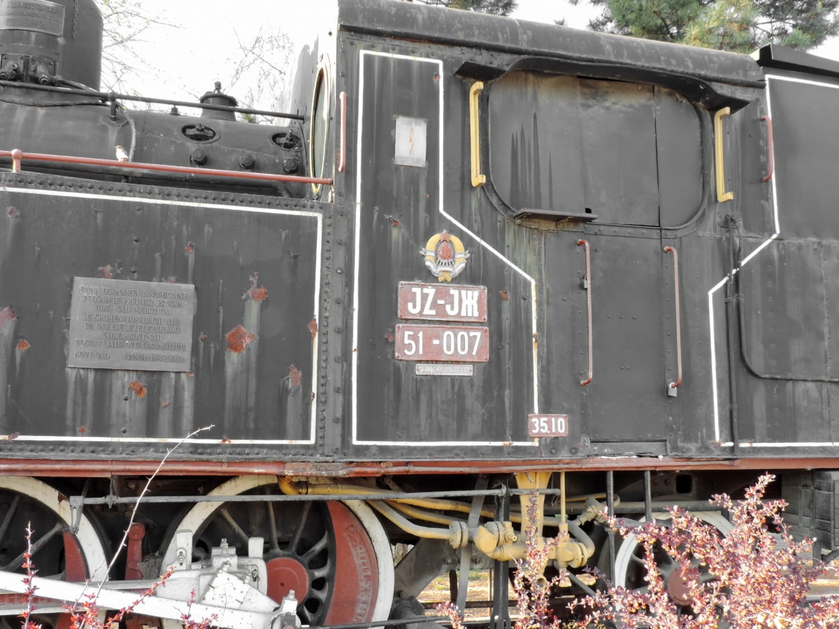 abandoned, steam engine, steam locomotive, wagon, transportation, locomotive, railway, train, vehicle, engine
