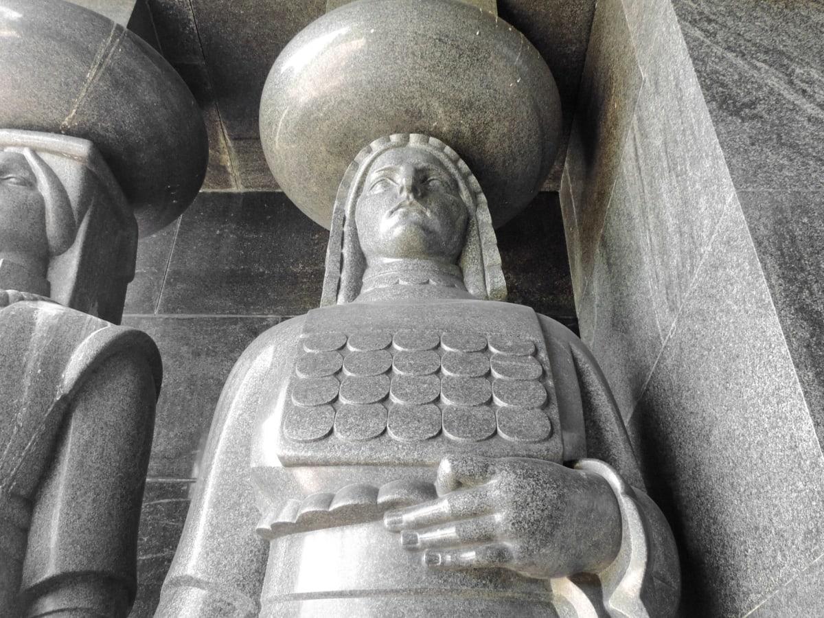 hoofdstad, graniet, marmer, gedenkteken, beeldhouwkunst, Servië, standbeeld, kunst, oude, het platform