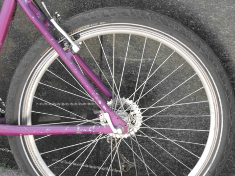 chain, gear, gearshift, mountain bike, pinkish, tire, device, wheel, bike, brake