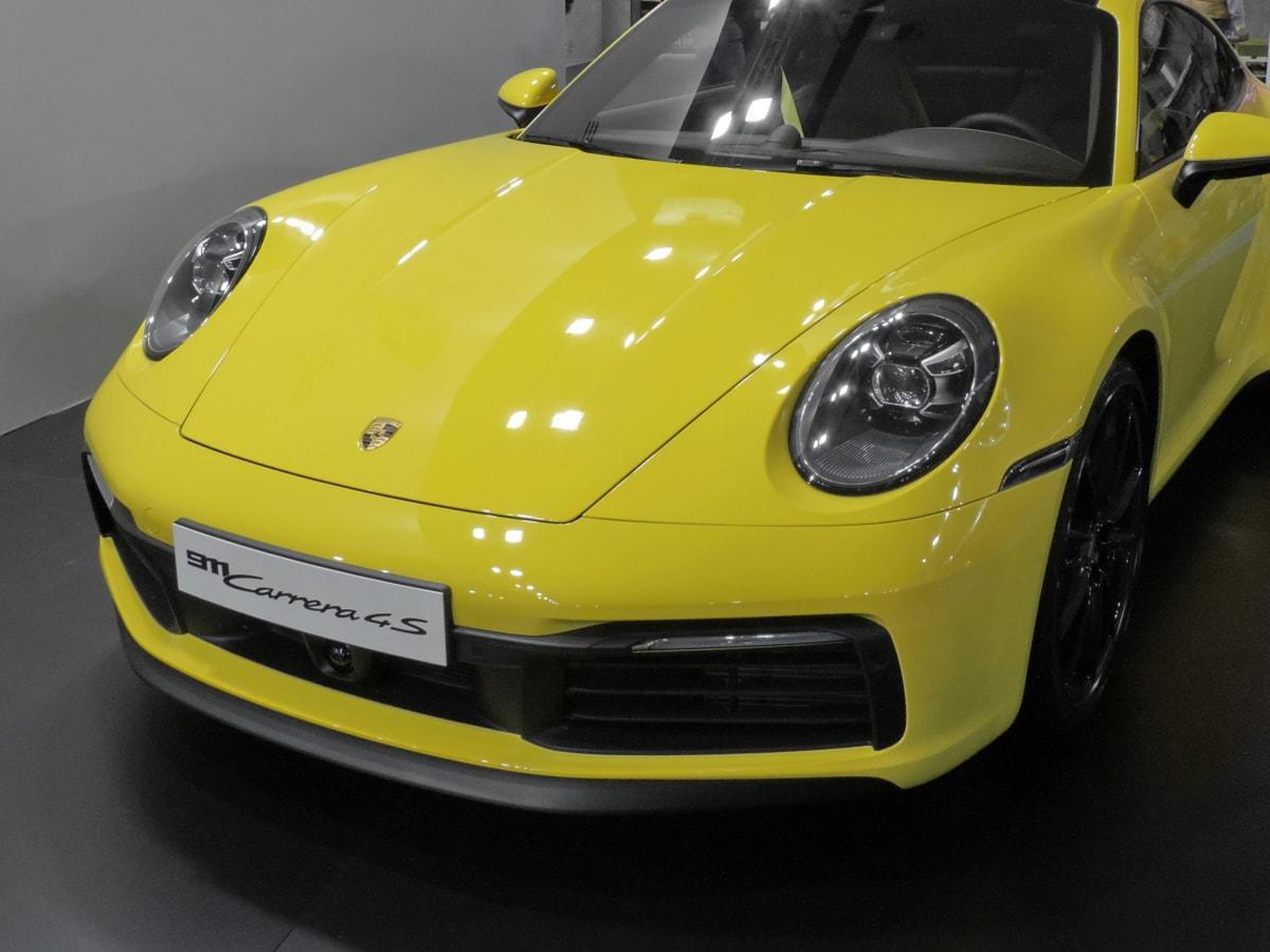 cabriolet, italiensk, metallisk, maling, Roadster, gulaktig, utstilling, sportsbil, coupe bil, bil