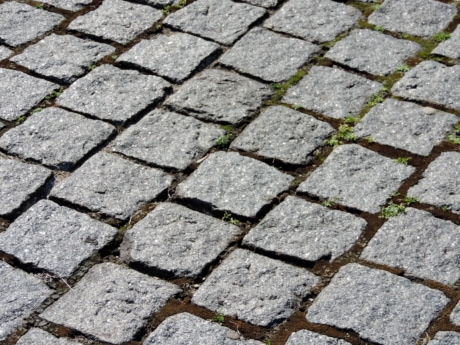 granite, paving stone, pavement, cobblestone, roadway, brick, ground, rough, paving, stone