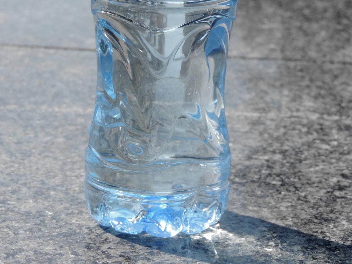 botella, líquido, transparente, agua, bebida, claro, plástico, completo, basura, pureza
