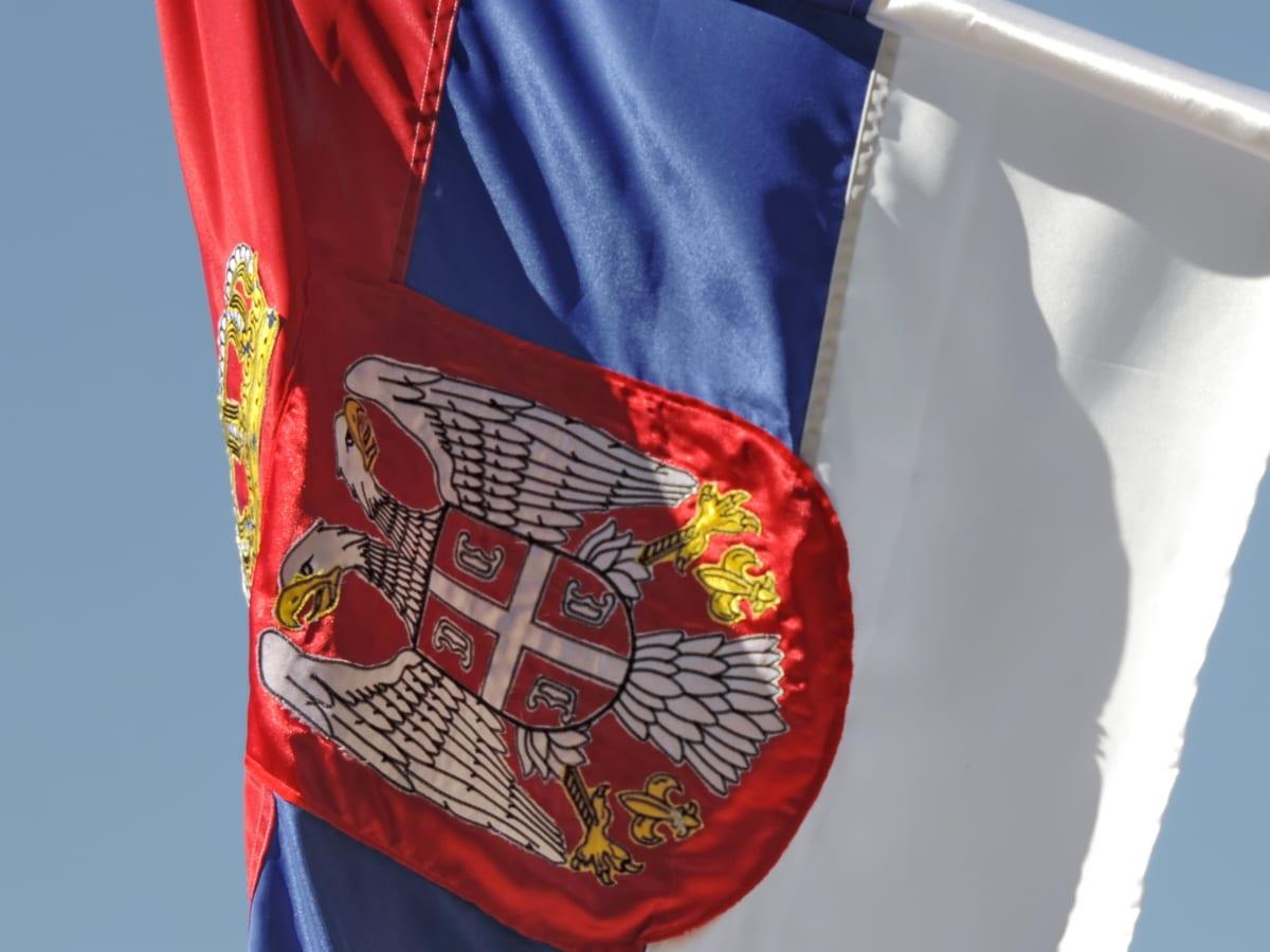 flagg, heraldikk, Serbia, emblem, patriotisme, stolthet, demokrati, land, utendørs, symbolet
