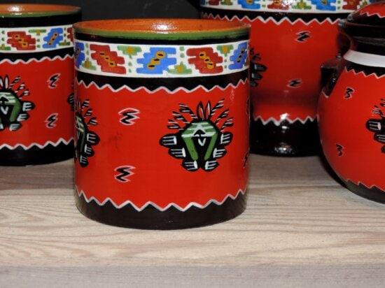 céramique, conception, poterie, conteneur, traditionnel, Coupe, art, à la main, peinture, décoration