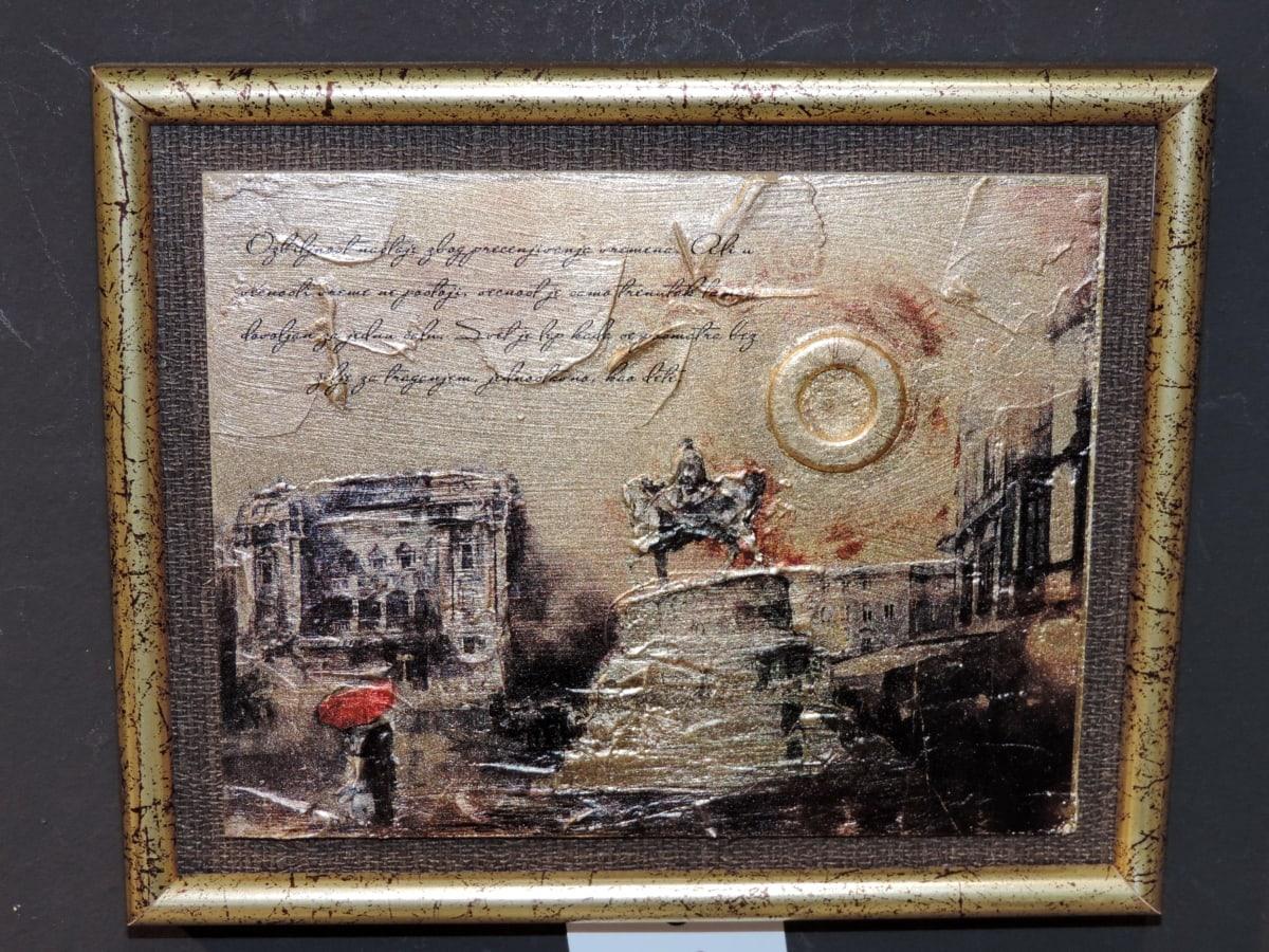 cadre, texte, peinture, art, vieux, Retro, antique, Vintage, décoration, mur
