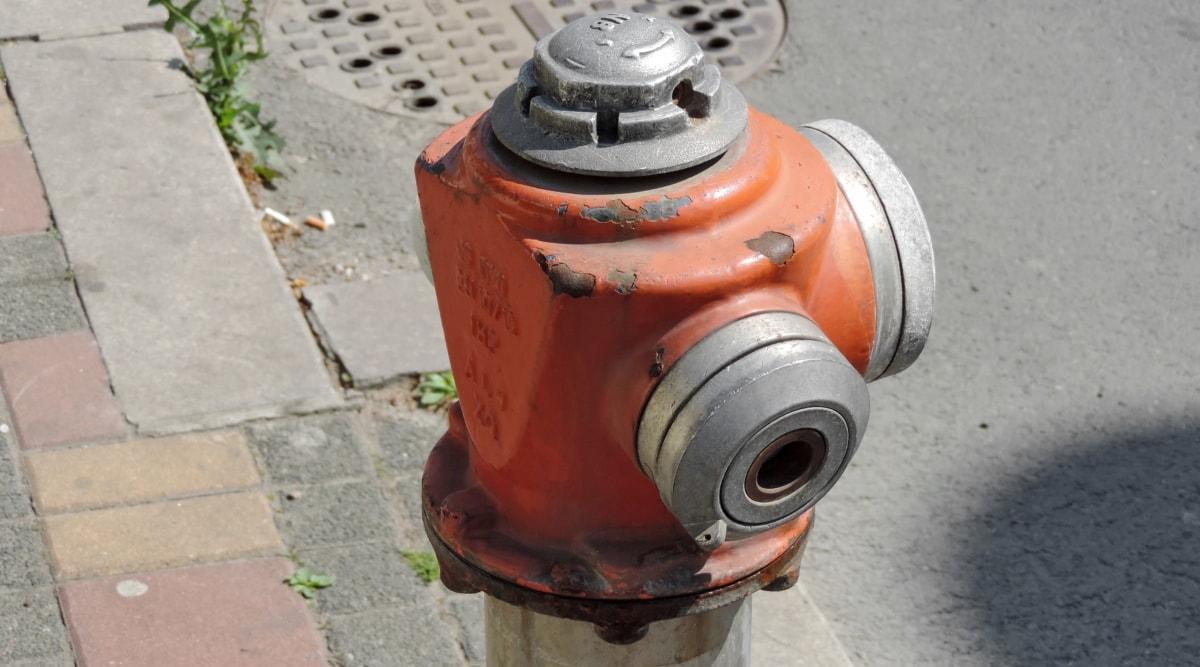 liatina, hydrant, oceľ, bezpečnosť, staré, pouličné, priemysel, Vybavenie, tlak, Technológia