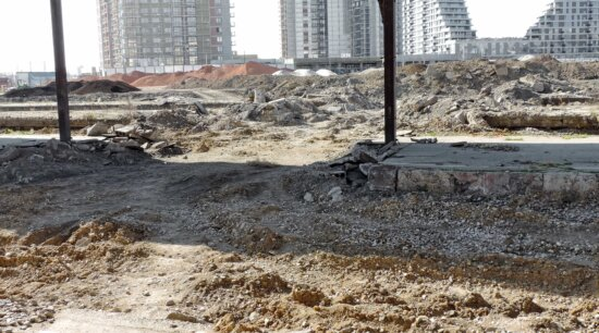 construction, junkyard, reconstruction, barrier, road, industry, water, dust, pollution, soil