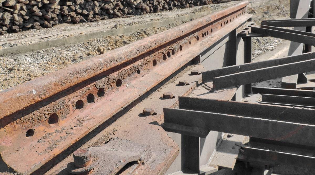 鉄道, 業界, 鋼, 鉄, 錆, 道路, 古い, アウトドア, インフラストラクチャ, 行